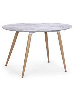 Table ovale scandinave Sissi effet Marbre