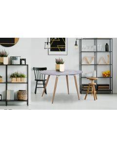 Sissi Ovaler Tisch im skandinavischen Stil Marmor Effekt