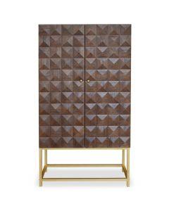 Sixty Hohes Sideboard aus Holz mit 2 Türen