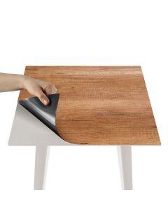 Blickfang Quadratischer, magnetischer Beistelltisch aus Metall 40 cm mit 3 Tischsets im Natural Stil
