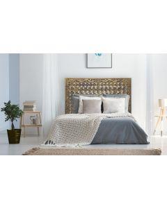 Exclufleur Kopfteil Bett 160cm aus Holz Bronze