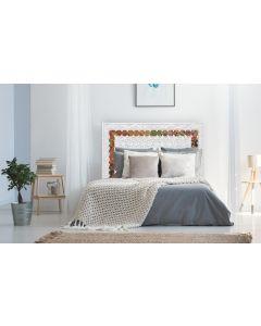 Exclufleur Kopfteil Bett 160cm aus Holz Weiß