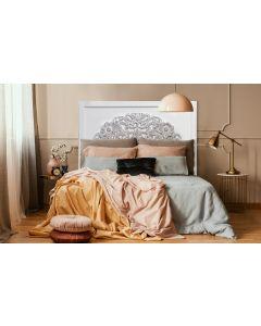 Venezia Kopfteil Bett 140cm aus Holz Weiß & Vintage