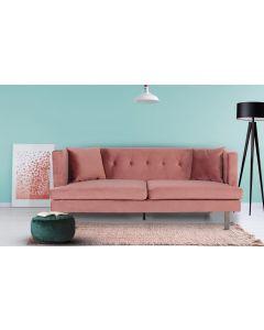Vincennes 3-Sitzer Sofa mit Samtbezug Rosa